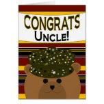 ¡Tío - soldado Congrats del ejército! Felicitacion