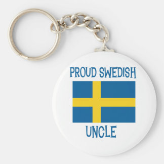 Tío sueco orgulloso llavero redondo tipo pin
