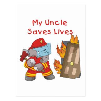 Tío T-shirts y regalos del bombero Postal