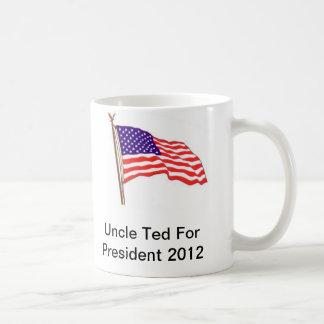 Tío Ted For presidente 2012 Taza Clásica