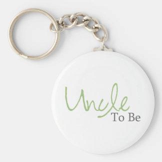Tío To Be (escritura verde) Llaveros Personalizados