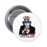 Tío V Occupy Wall Street Pin