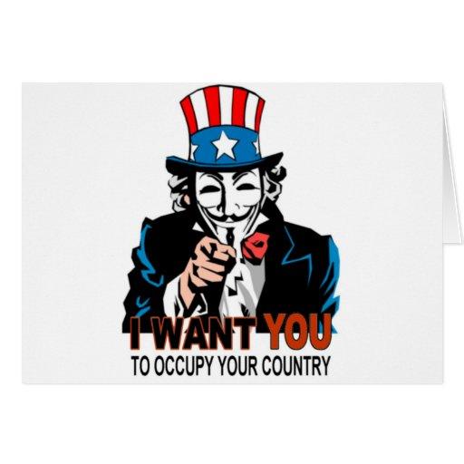 Tío V Wants You de ocupar su país Tarjeta De Felicitación