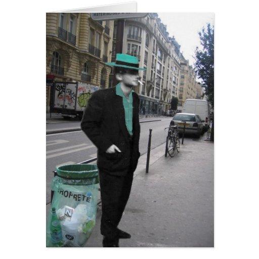 tío Vic en París Tarjeta De Felicitación
