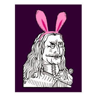 Tío Vlad con los oídos del conejito Postales