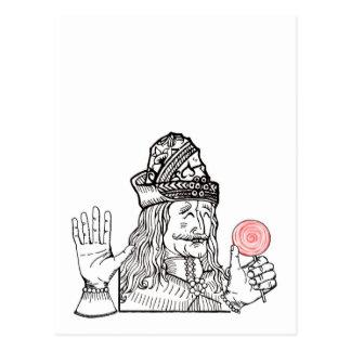 Tío Vlad tiene un lollipop Tarjetas Postales