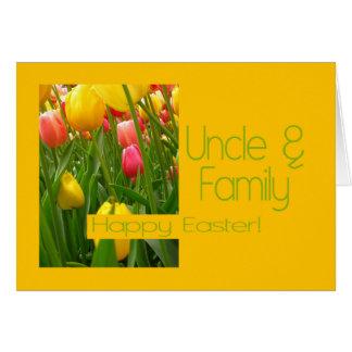 Tío y familia Pascua feliz Tarjeta De Felicitación
