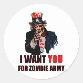 Tío Zombie Pegatinas