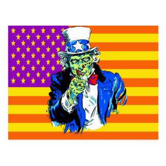 Tío Zombie Sam Tarjeta Postal