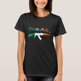 Tiocfaidh Ar la AK47 Ireland Flag Womens TShirt