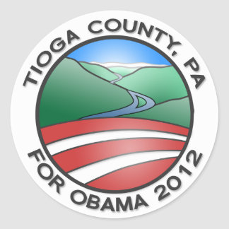 """Tioga County for Obama 2012 Canyon 3"""" Stickers"""