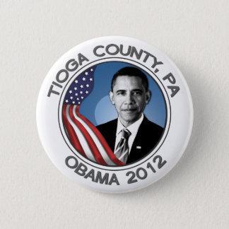 """Tioga County for Obama 2012 Portrait 2.25"""" Button"""