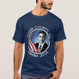 Tioga County for Obama 2012 Portrait Dark T-Shirt