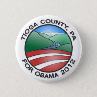 "Tioga County PA for Obama 2012 Canyon 2.25"" Button"