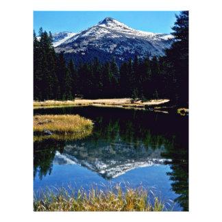 "Tioga Lake - Yosemite National Oark 8.5"" X 11"" Flyer"