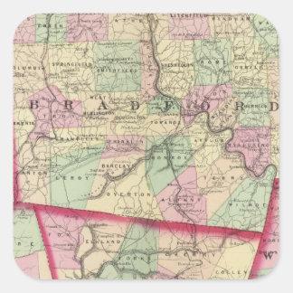 Tioga, Luzerne, Bradford, Sullivan, Wyoming Calcomanías Cuadradas Personalizadas