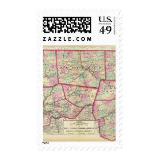 Tioga, Luzerne, Bradford, Sullivan, Wyoming Postage Stamp