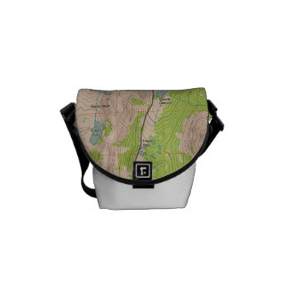 Tioga Pass, California Topographic Map Courier Bags