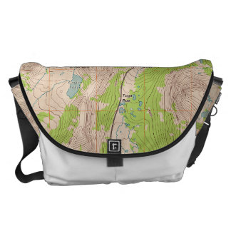 Tioga Pass, California Topographic Map Courier Bag