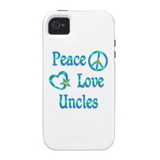 Tíos del amor de la paz Case-Mate iPhone 4 funda