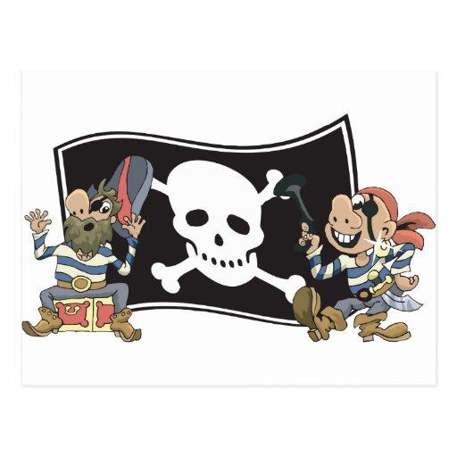 Tíos del pirata tarjeta postal