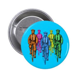 Tíos del vintage cinco en el ejemplo de las bicis pin redondo de 2 pulgadas