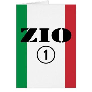 Tíos italianos: Uno de Zio Numero Tarjeta De Felicitación