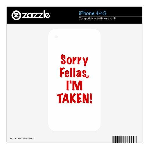 Tíos tristes Im tomado Calcomanías Para iPhone 4S