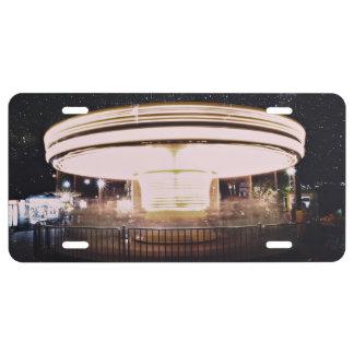 tiovivo del Rápido-movimiento en la noche Placa De Matrícula