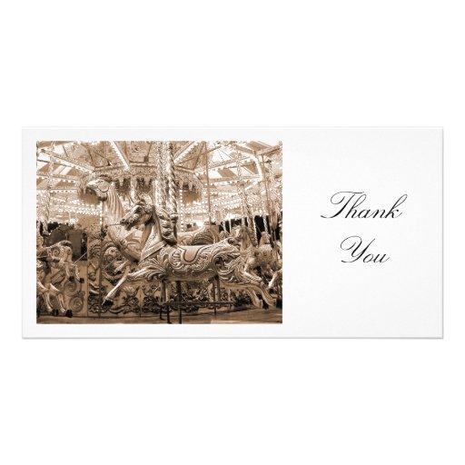 Tiovivo - gracias tarjeta personal con foto
