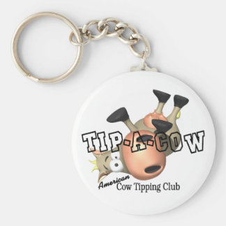 Tip a Cow T-shirts and Gifts. Basic Round Button Keychain