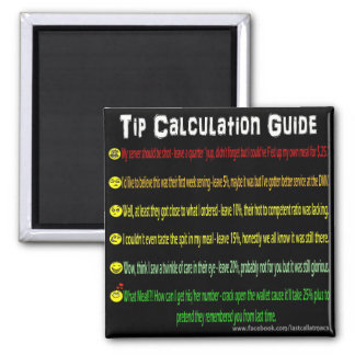 Tip Calculation 2 Inch Square Magnet