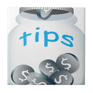 Tip Jar Ceramic Tile
