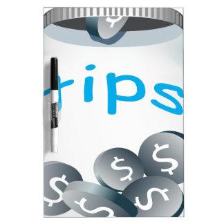 Tip Jar Dry Erase Board
