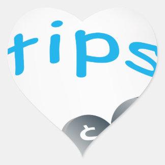 Tip Jar Heart Sticker