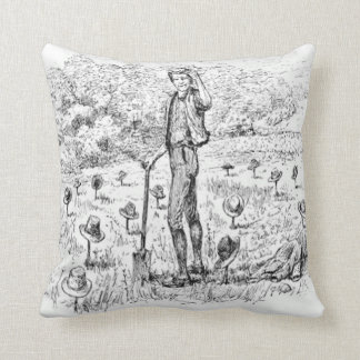 Tip of the Hat to You Quote and Picture Throw Pillow