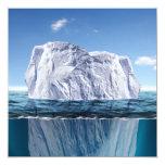 "Tip of the Iceberg 5.25"" Square Invitation Card"