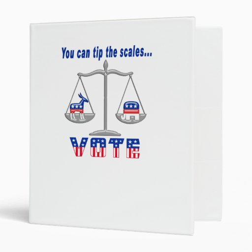 Tip the Scales Vote Binders