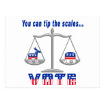 Tip the Scales Vote Post Cards