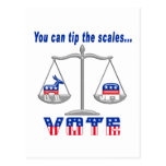 Tip the Scales Vote Postcard