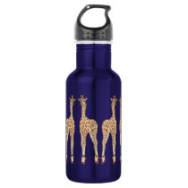 tip toe giraffe stainless steel water bottle