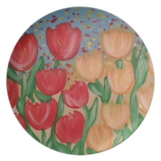 Tip Toe Through The Tulips Plate