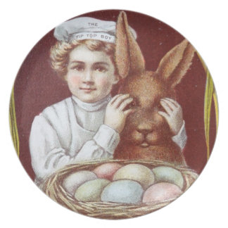 Tip Top Baker Boy Chocolate Easter Bunny Plate