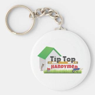 Tip Top Handymen Merch Basic Round Button Keychain