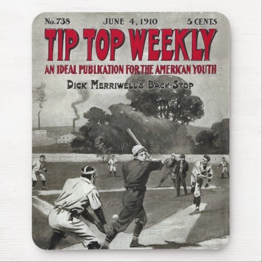 Tip Top Weekly Vintage Sports Magazine Mouse Pad