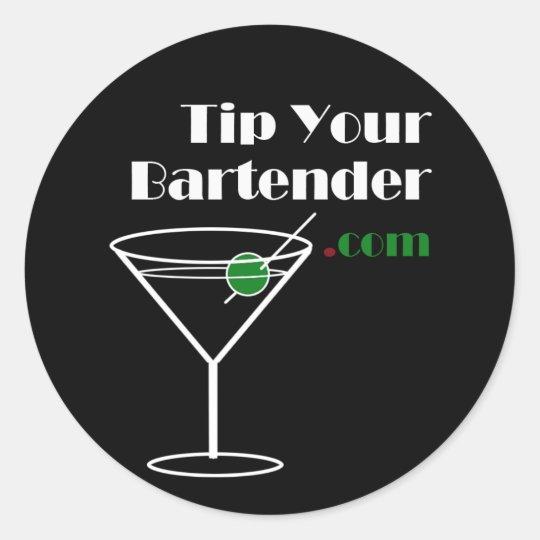 Tip Your Bartender Com Sticker Zazzle
