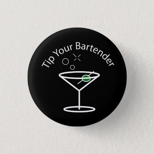 Tip Your Bartender Martini Pin
