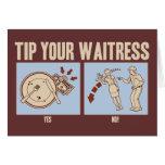 Tip Your Waitress Card