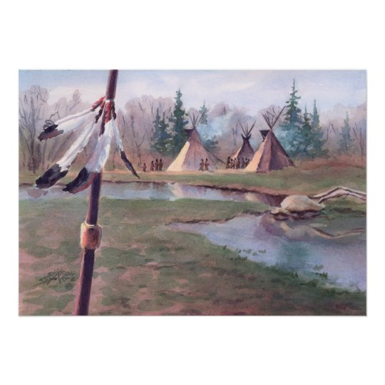TIPI CAMP by SHARON SHARPE Poster