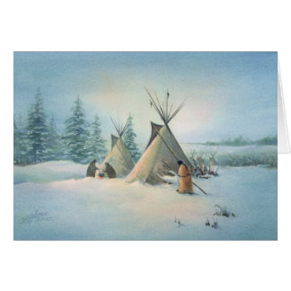 TIPI CAMP SQUAW by SHARON SHARPE Card